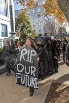 11-29-2019 - Washington DC USA Funeral for Future protest on Capitol Hill to demand that government addresses the crisis of climate change. It was part of Fridays for Future Global Day of Action. © Jim West