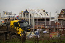 05-12-2019 - Construction of new houses on the edge of town, Evesham, Worcestershire. Bloor Homes © John Harris