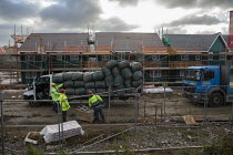 09-12-2019 - New houses under construction, Ashchurch, Gloucestershire. Lindin Homes © John Harris