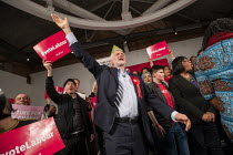 11-12-2019 - Jeremy Corbyn speaking, general election rally, Hoxton Docks, Hackney, East London. © Jess Hurd