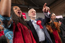 11-12-2019 - Dawn Butler, Jeremy Corbyn general election rally, Hoxton Docks, Hackney, East London. © Jess Hurd