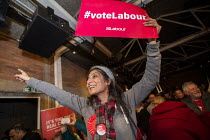 11-12-2019 - Labour supporters, General election rally, Hoxton Docks, Hackney, East London © Jess Hurd