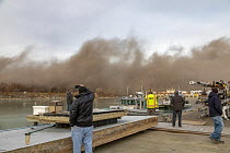 12-13-2019 - Detroit, Michigan USA. Explosive demolition of Conners Creek power plant, DTE Energy. The plant initially burned coal but later switched to natural gas. It closed in 2008. The site will be used by Fia... © Jim West