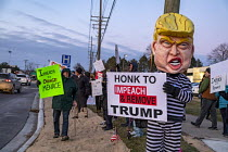 17-12-2019 - Michigan, USA Protest for the impeachment of President Trump. They were outside the office of Elissa Slotkin, a Democrat elected in 2018 to represent a district that voted for Trump in 2016. The rally... © Jim West