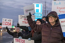 17-12-2019 - Rochester Hills, Michigan, USA Protest for the impeachment of President Trump. They were outside the office of Elissa Slotkin, a Democrat elected in 2018 to represent a district that voted for Trump i... © Jim West