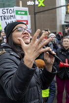 04-01-2020 - Detroit, USA, Rashida Tlaib speaking, NO WAR rally against war with Iran, following the assassination of Iranian General Qassem Soleimani © Jim West