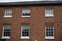 09-01-2020 - Man shouting from the top window, Stratford upon Avon, Warwickshire © John Harris