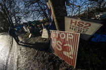 18-01-2020 - Stop HS2 protest camp against the destruction of 108 ancient woodlands, Colne Valley, Uxbridge © Jess Hurd