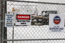 01-19-2020 - Madison Heights, Michigan USA, Environmental Protection Agency Superfund cleanup site where the owner of Electro-Plating Services dumped toxic chemicals. A green ooze containing hexavalent chromium fl... © Jim West