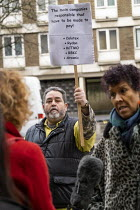 27-01-2020 - Grenfell fire Inquiry phase two, day one, Kensington residents campaigning for Justice, Paddington, London. © Jess Hurd