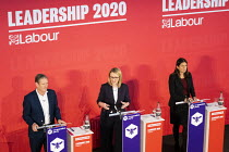 16-02-2020 - Keir Starmer, Rebecca Long Bailey and Lisa Nandy, Labour Leadership Hustings, hosted by Co-coperative Party, Business Design Centre, North London. © Jess Hurd