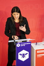 16-02-2020 - Lisa Nandy speaking, Labour Leadership Hustings, hosted by Co-coperative Party, Business Design Centre, North London. © Jess Hurd
