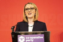 16-02-2020 - Rebecca Long Bailey, Labour Leadership Hustings, hosted by Co-coperative Party, Business Design Centre, North London. © Jess Hurd