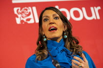 16-02-2020 - Dr Rosena Allin Khan speaking Labour Deputy Leadership Hustings, hosted by Co-coperative Party, Business Design Centre, North London. © Jess Hurd
