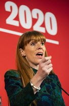 16-02-2020 - Angela Rayner speaking Labour Deputy Leadership Hustings, hosted by Co-coperative Party, Business Design Centre, North London. © Jess Hurd