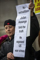22-02-2020 - Peter Tatchell, March for Julian Assange against his extradition to America, London © Jess Hurd