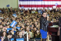 06-03-2020 - Detroit, Michigan USA, Rashida Tlaib speaking, Bernie Sanders presidential campaign rally © Jim West