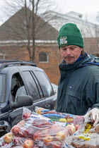 21-03-2020 - Detroit, Michigan, USA, Coronavirus crisis, The Gleaners Community Food Bank distributing free food to residents in need © Jim West