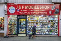 09-12-2019 - Used mobile phone and laptop shop, Kilburn, London © Philip Wolmuth