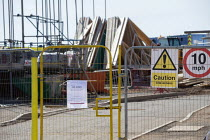 04-15-2020 - Coronavirus Pandemic. Closed and abandoned building site, Stratford Upon Avon, Warwickshire © John Harris