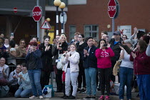 16-04-2020 - Clap for Our Carers University Hospital Coventry, staff, patients and supporters © John Harris