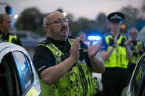 16-04-2020 - Clap for Our Carers University Hospital Coventry, Police joining in. © John Harris