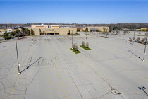20-04-2020 - Dearborn, Michigan USA. Coronavirus pandemic. Closed major regional shopping mall The Fairlane Town Center. The parking lot is empty. © Jim West
