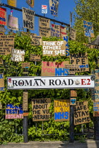 23-04-2020 - Coronavirus Pandemic. Tributes to essential workers, Roman Road, Tower Hamlets, East London © Jess Hurd