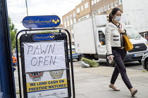 12-05-2020 - Coronavirus Pandemic. Pawnshop open, lockdown restrictions relaxed, Bethnal Green, East London © Jess Hurd