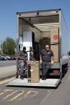 07-05-2020 - Coronavirus Pandemic: Delivery drivers, lorry and diswasher, Stratford upon Avon © John Harris