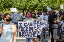 29-05-2020 - Detroit, Michigan USA Protest against Police brutality, racism and the Police killing of George Floyd in Minneapolis © Jim West