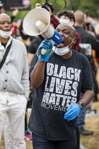 03-06-2020 - Gary McFarlane speaking Black Lives Matter protest in solidarity with George Floyd protests, Hyde Park, London © Jess Hurd