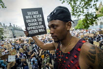 06-06-2020 - Black Lives Matter protest, Parliament Square, Westminster, London © Jess Hurd