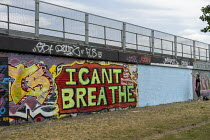 09-06-2020 - I Can't Breathe graffiti after the death of George Floyd, East London © Jess Hurd