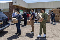 13-06-2020 - Warren, Michigan USA Coronavirus Pandemic, the Michigan Muslim Community Council distributing food boxes to anyone in need © Jim West