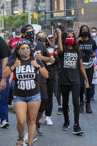 15-06-2020 - Detroit, Michigan, USA. Deaf people at Black Disabled Lives Matter protest. Protest demanding that police funding be reallocated to mental health first responders and crisis intervention specialists. © Jim West