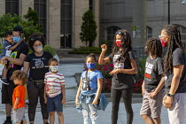 15-06-2020 - Detroit, Michigan, USA. Deaf people at Black Disabled Lives Matter protest. Protest demanding that police funding be reallocated to mental health first responders and crisis intervention specialists.... © Jim West