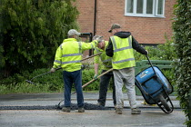06-19-2020 - Workers tarmacing after installing a new gas main, Stratford-upon Avon © John Harris