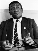 26-10-1969 - Dillibe Onyeama aged 18, London 1969. Nigerian writer and first black African student to to complete his studies at Eton School, He wrote a book Nigger At Eton about the racism he experienced at the s... © Bente Fasmer