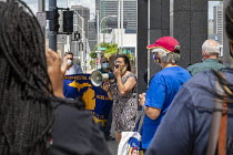 23-06-2020 - Detroit, Michigan USA Congresswoman Rashida Tlaib speaking, Postal workers rally at the main post office to Save America's Postal Service. Part of a nationwide campaign by the APWU. The U.S. Postal Se... © Jim West