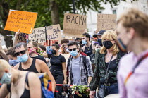 27-06-2020 - Black Trans Lives Matter protest, Wellington Arch, London © Jess Hurd