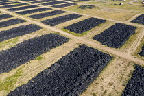 03-07-2020 - Colorado, USA. Piles of stored tires, CH2E Tire Recycling Facility northeast of Denver. The waste tires are recycled into a variety of end user materials including tire derived fuel, tire derived aggr... © Jim West