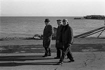 12-11-1970 - Three men walking on Deal beach on a winter's afternoon © Martin Mayer