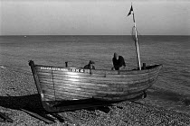 12-11-1970 - Men working on a fishing boat, Deal, Kent 1970 © Martin Mayer