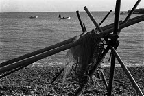 12-11-1970 - Fishing nets and boats, Deal beach, Kent, 1970 on a winter afternoon © Martin Mayer