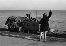 12-11-1970 - Woman and fishing boat winch Deal beach 1970 © Martin Mayer