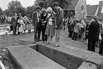 13-06-1979 - Blair Peach funeral Southall 1979. Mourners, funeral of Blair Peach, Southall, West London 1979. Peach was killed by SPG police at an anti racist protest in Southall, West London, against the National... © Ray Rising