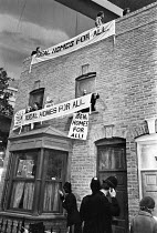 09-03-1979 - Squatters occupying an Ideal Home, 1979 Ideal Home Exhibition, Earls Court, London. Ideal Homes For All © Ray Rising