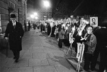 05-04-1979 - Vigil on the eve of the hanging of Solomon Mahlangu, 1979, South Africa House, London © Ray Rising