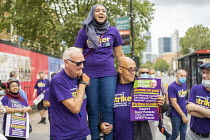 17-08-2020 - Amina Patel, UNISON Tower Hamlets council workers strike against Tower Rewards, a contract imposing worse terms and conditions, Whitechapel, London. © Jess Hurd